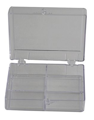 Bobbin box plastic with 4 compartments