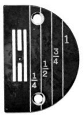 NEEDLE PLATE Singer 31-15 chain off regular