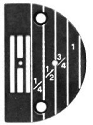 NEEDLE PLATE Singer 31-15 medium heavy large hole
