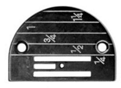 NEEDLE PLATE Singer 31-15 Regular with gauge marks