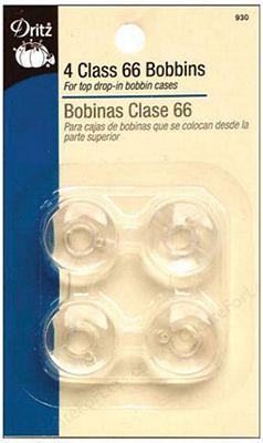 Bobbins Class 66 Plastic 4ct 6/bx