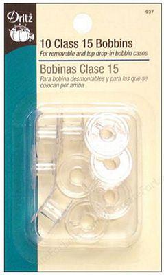 Bobbins Class 15 Plastic 10ct 6/bx