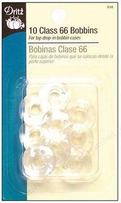 Bobbins Class 66 Plastic 10ct 6/bx