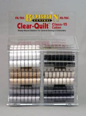 Prewound Bobbin Display Fil-Tec 15 Class Cotton 1