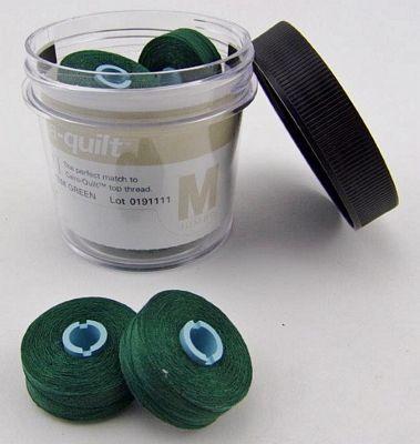 Totem Green Prewound Bobbin Magna Qlt M