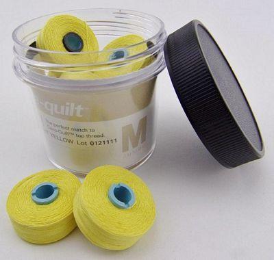Bright Yellow Prewound Bobbin Magna Qlt M