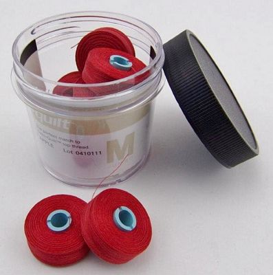 Candy Apple Red Prewound Bobbin Magna Qlt M
