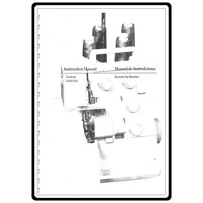 Instruction Book Bernina 004 004D