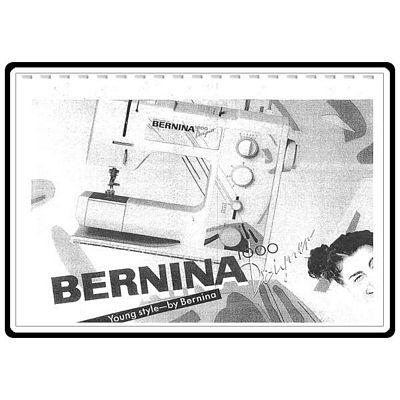 Instruction Book Bernina 1000