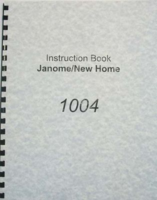 INSTRUCTION BOOK New Home 1004