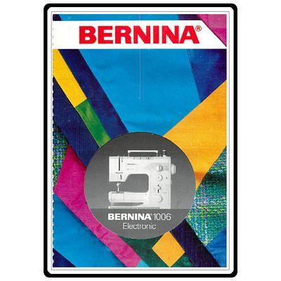 Instruction Book Bernina 1006