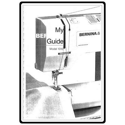 Instruction Book Bernina 1010 1011