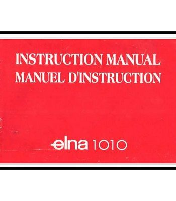 Instruction Book Elna 1010