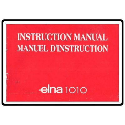Instruction Book Elna 1010 1