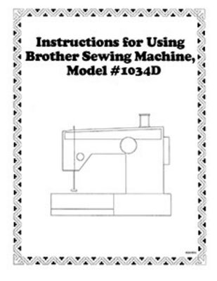 INSTRUCTION BOOK Brother 1034D serger GENUINE