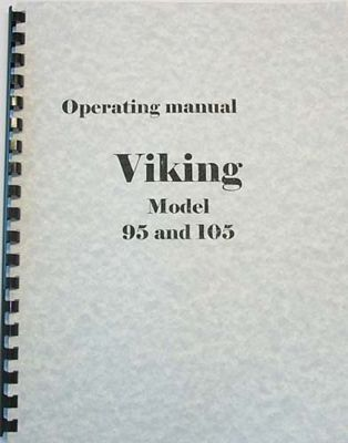 INSTRUCTION BOOK Viking 95 100 105