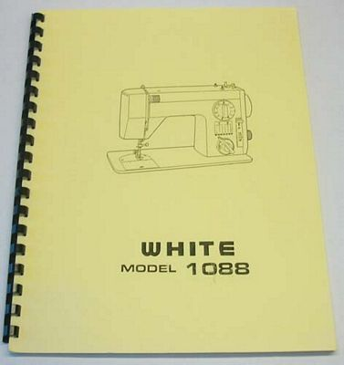 INSTRUCTION BOOK White 988 1088
