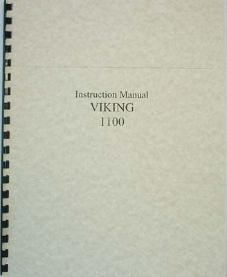 INSTRUCTION BOOK Viking 1100 #1