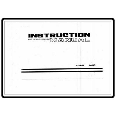 INSTRUCTION BOOK White 1405
