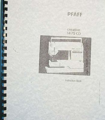 Instruction Book Pfaff 1475