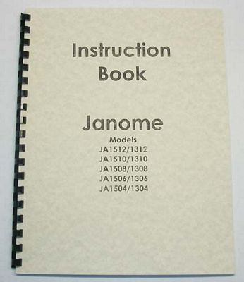 INSTRUCTION BOOK New Home JA1504