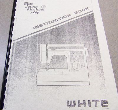INSTRUCTION BOOK White 1577 1599