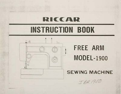 INSTRUCTION BOOK Riccar 1900