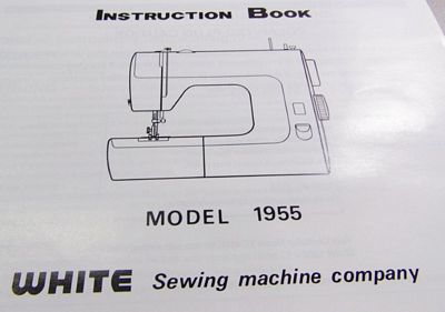 INSTRUCTION BOOK White 1955