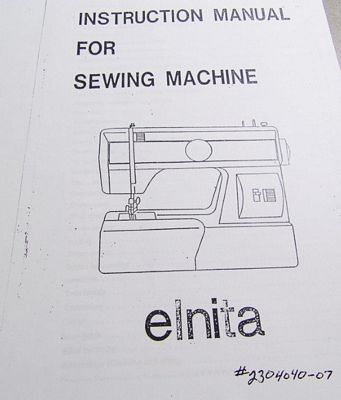 Instruction Book Elnita 230