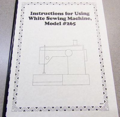 INSTRUCTION BOOK White 265