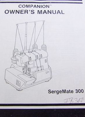 INSTRUCTION BOOK Sergemate 300 5030