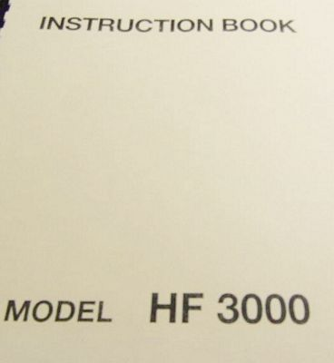INSTRUCTION BOOK New Home MC3000 MC3500