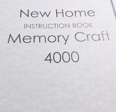 INSTRUCTION BOOK New Home MC4000