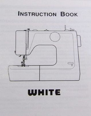 INSTRUCTION BOOK White 4040