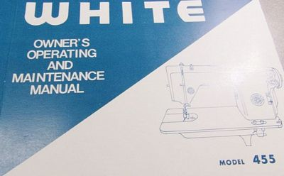 INSTRUCTION BOOK White 455