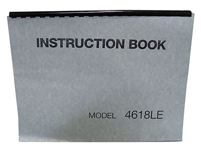 INSTRUCTION BOOK New Home 4618