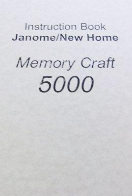 INSTRUCTION BOOK New Home MC5000