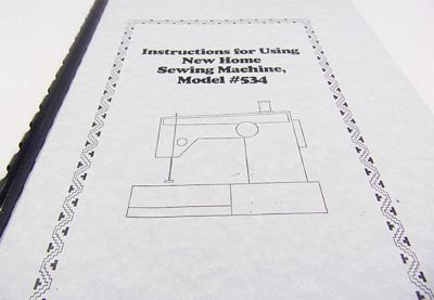 INSTRUCTION BOOK New Home 534