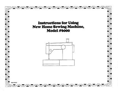 Instruction Book, Nh 6000  B Disk