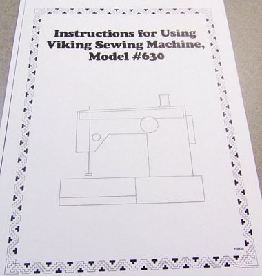 INSTRUCTION BOOK Viking 610 620 630
