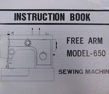 INSTRUCTION BOOK Riccar 650