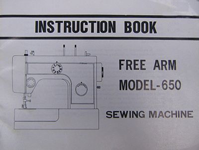 INSTRUCTION BOOK Riccar 650
