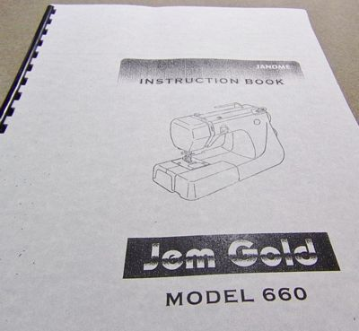 INSTRUCTION BOOK New Home 660 Jem Gold