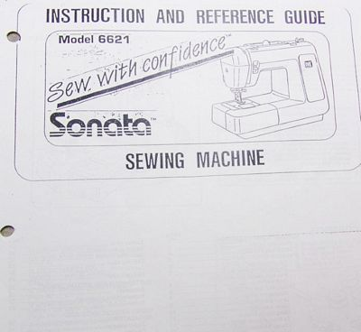 INSTRUCTION BOOK Sonata 6680C