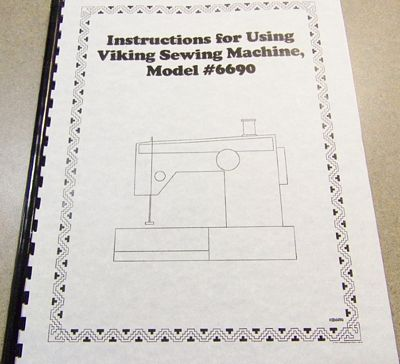 INSTRUCTION BOOK Viking 6690