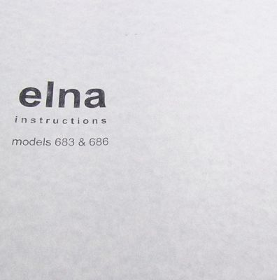 Instruction Book Elna 683 686