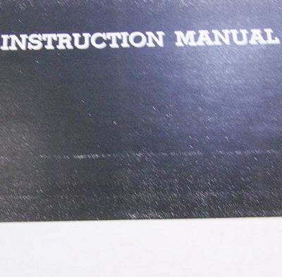 INSTRUCTION BOOK FA693