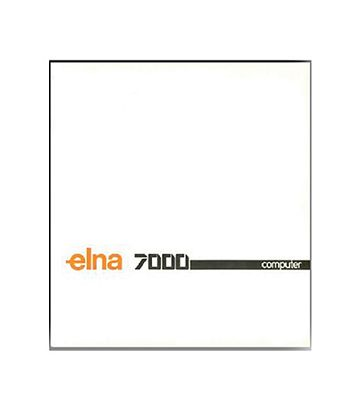 Instruction Book Elna 7000