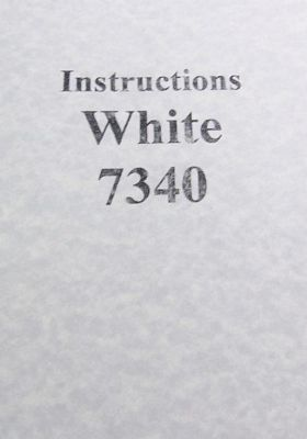 INSTRUCTION BOOK White 7340 serger
