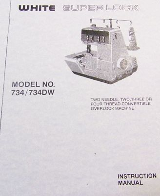 Instruction Book White 734DW